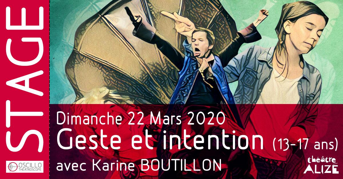 Stage sur le thème : «Geste et intention»