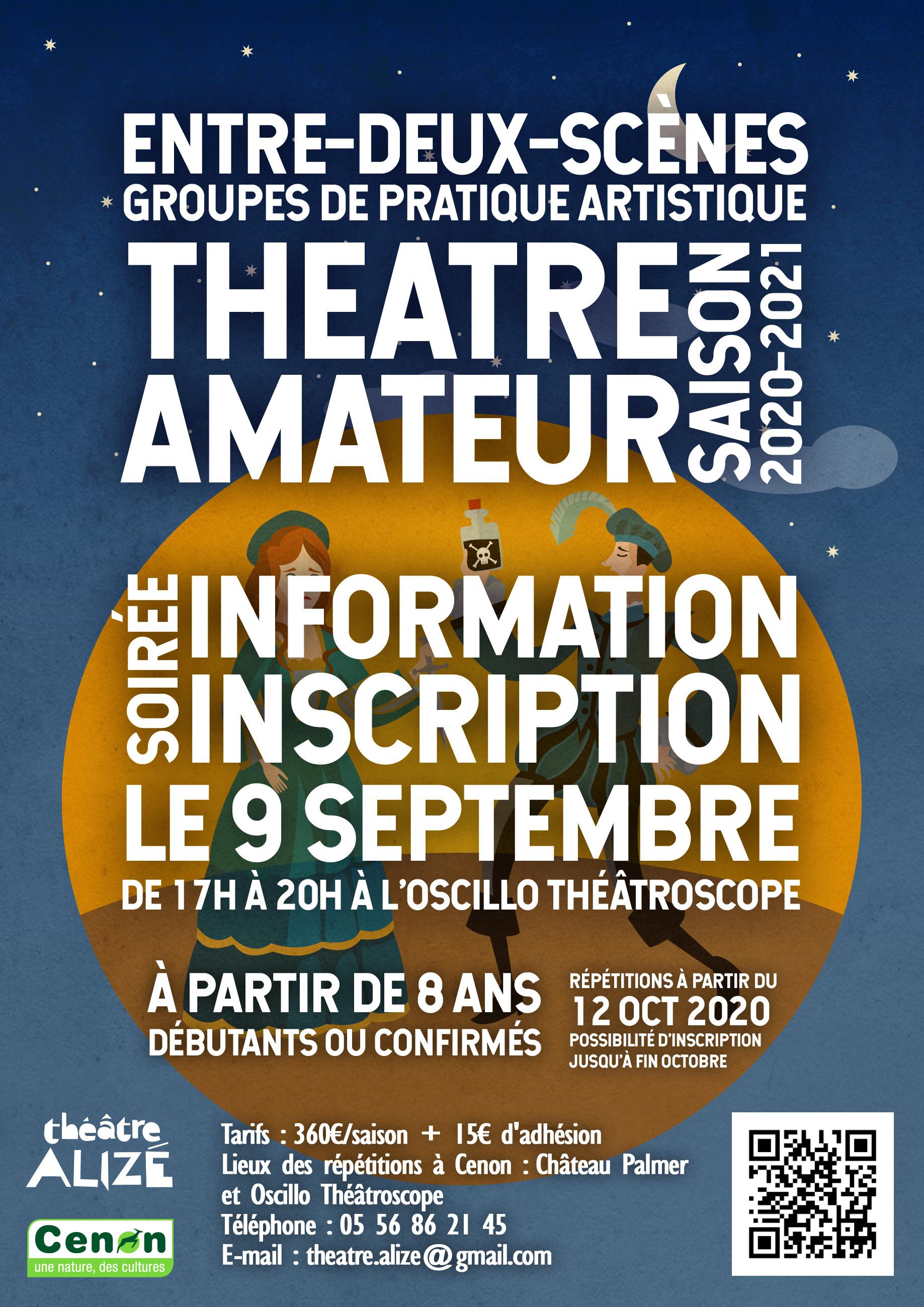 Inscription théâtre amateur saison 2020-2021
